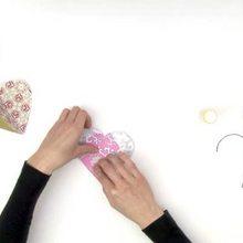 Dia dos namorados, Coração de papél para decoração