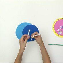 escola, Como fazer um relógio para aprender a ler as horas