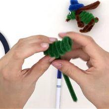 Como fazer um GAFANHOTO com fio de chenille armado