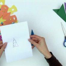 Natal para crianças, Como fazer flocos de neve