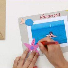 Como fazer um cartão postal de férias na praia