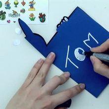 Como fazer um cartão de páscoa com um coelhinho
