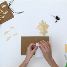 férias, Como fazer um cartão postal com um pássaro em 3D