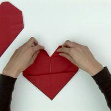 Dia dos namorados, Origami de coração