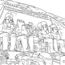 Desenho de templo de ABU SIMBEL para colorir