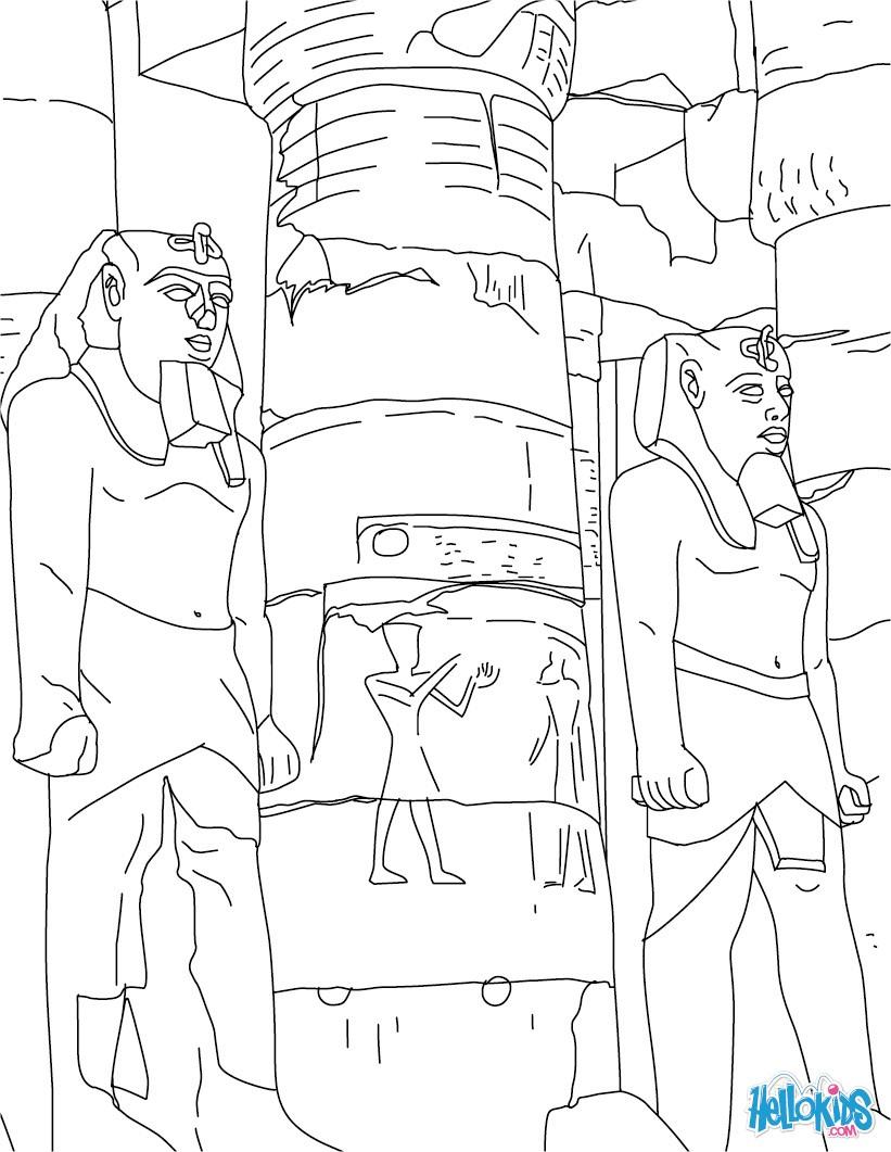 desenhos para colorir de desenho de pirâmides para colorir pt