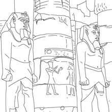 Desenho de templo de LUXOR para colorir