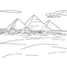 Desenho da pirâmides de GIZÉ para colorir
