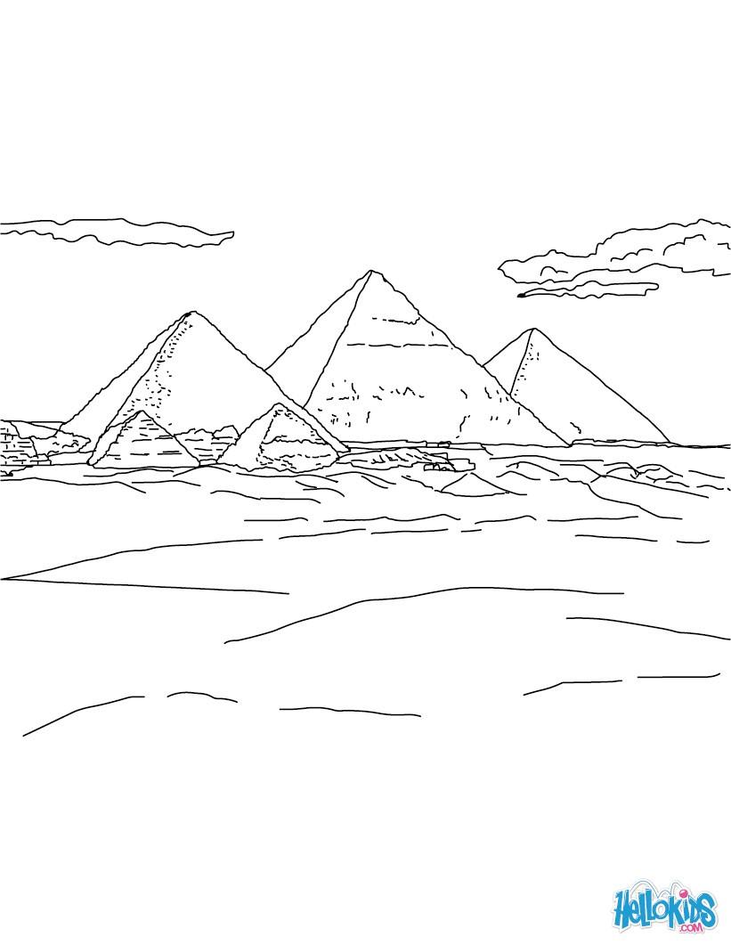 Desenhos Para Colorir De Desenho Da Piramides De Gize Para Colorir