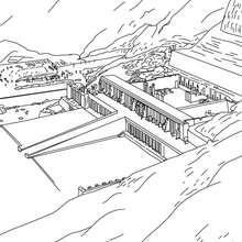 Desenho de templo de HATSHEPSUT egito para colorir