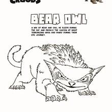 BEAR OWL de OS CROODS para colorir