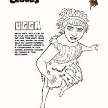 Paginas de OS CROODS para colorir