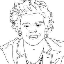 Desenho do Harry Styles para colorir