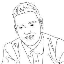 Desenho do Liam Payne para colorir