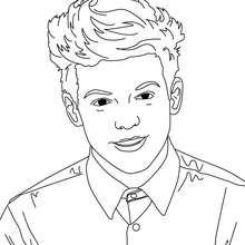 Desenho do Louis Tomlison para colorir