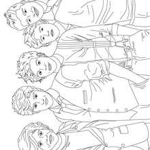Desenho dos 1D para colorir