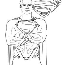 Desenho do SUPERMAN para imprimir