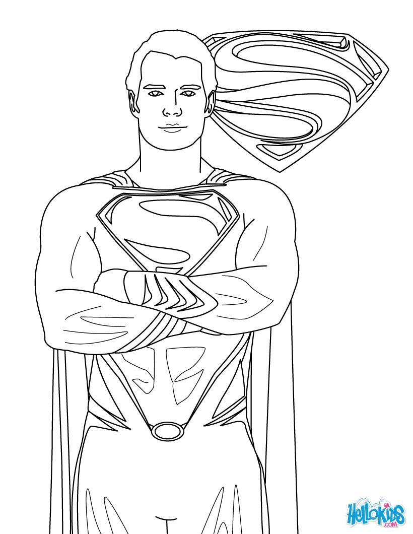 Desenhos Para Colorir De Desenho Do Superman Para Imprimir