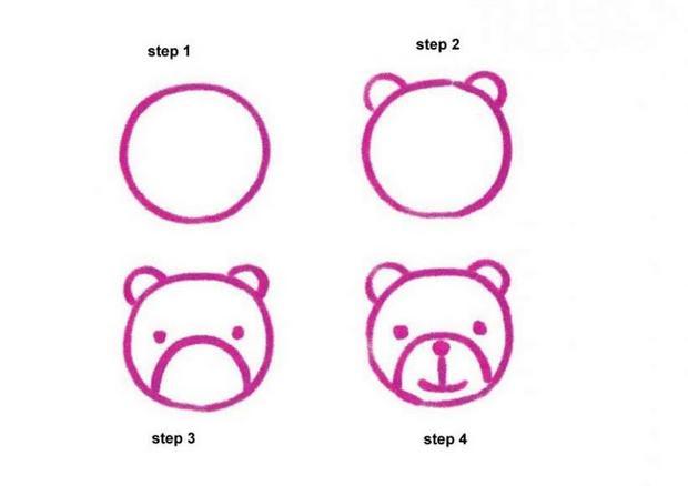 Conhecido Como desenhar como fazer um bebê urso de desenho animado - pt  RS06