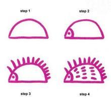 Como desenhar um ouriço