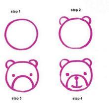 Como fazer um bebê urso de desenho animado
