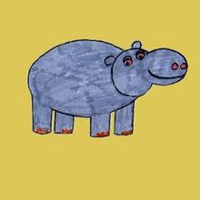 Como desenhar um hipopótamo