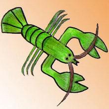 Como desenhar uma lagosta