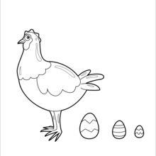 Galinha e ovos de chocolate