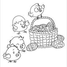 Ovos e filhotes de Páscoa