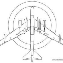 Desenho de um avião de combate para colorir