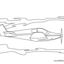 Desenho de um Avião para colorir online