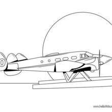 Desenho de um hidro-avião para colorir online