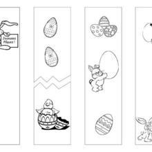 4 marcadores de colorir Páscoa