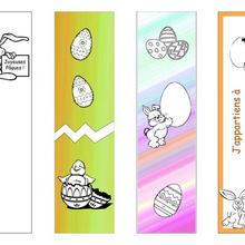 4 marcadores de Páscoa imprimíveis