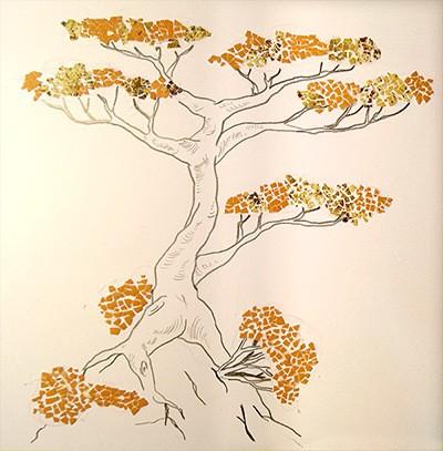 A árvore em cascas de ovos