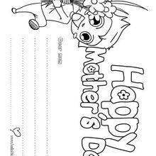 Cartão do dia das mães para colorir