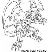 Desenho do Dragão Caveira Negro para colorir