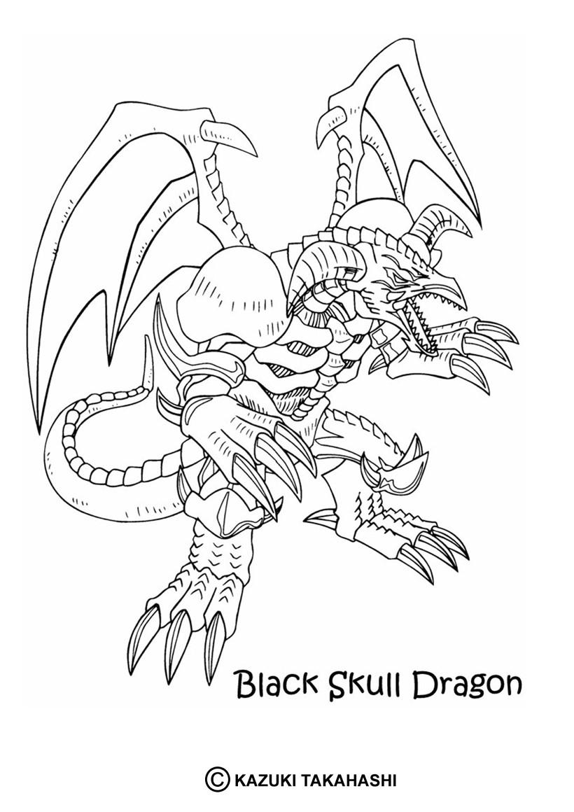 Desenhos Para Colorir De Desenho Do Dragao Caveira Negro Para