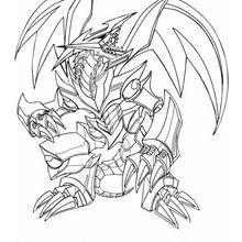 Desenho do Dragão de Metal Negro para colorir