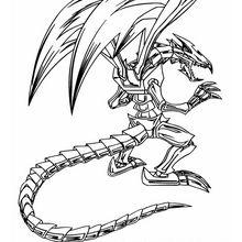Desenho do Dragão Negro de Metal para colorir online