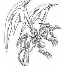 Desenho do Dragão Negro para colorir