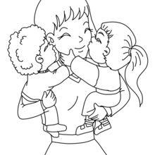 Mãe e seus filhos