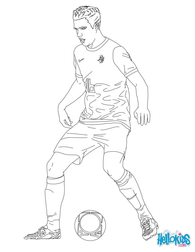 desenhos para colorir de robin van persie pt hellokids com