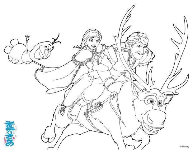 Desenhos Para Colorir De Frozen -pt.hellokids.com