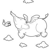 Desenhos Para Colorir De Elefante Voador Pt Hellokids Com