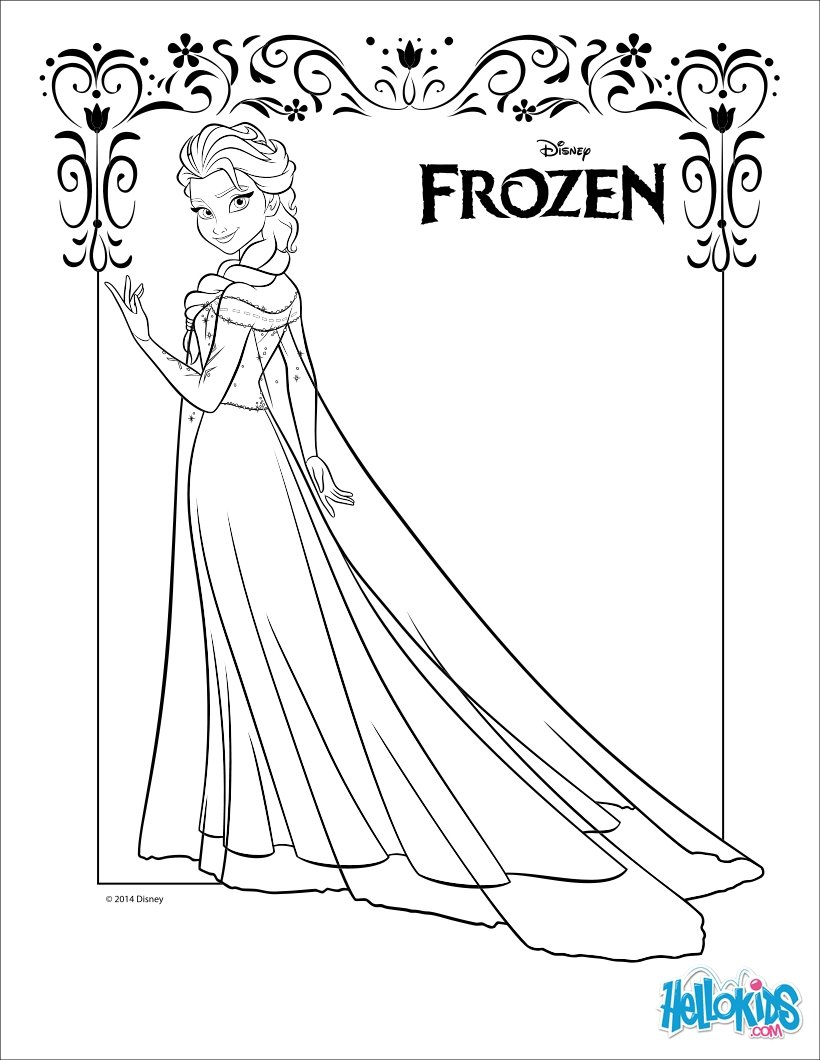 catalin ifrim elsa coloring pages - photo#26