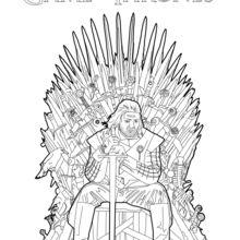 Game Of Thrones : Ned Stark no trono férreo