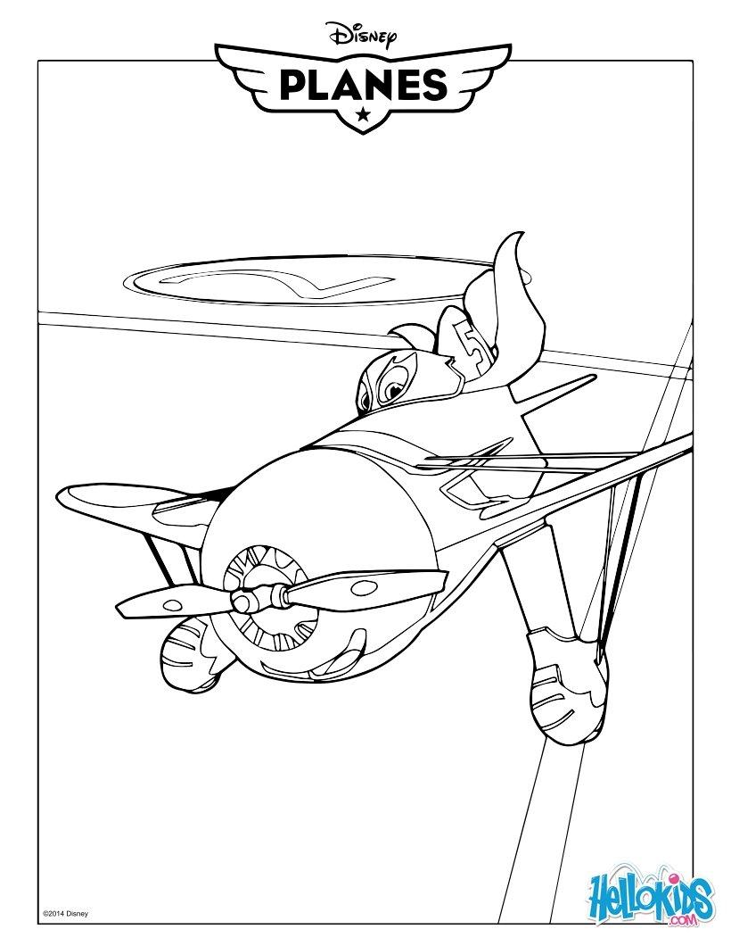 Desenhos Para Colorir De Avioes El Chupacabra Pt Hellokids Com