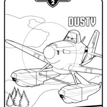 Desenhos Para Colorir De Dusty Avioes 2 Pt Hellokids Com