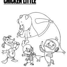 Galinho Chicken Little e seus amigos